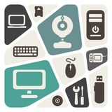 Computer devices theme abstract background Royalty Free Stock Photography