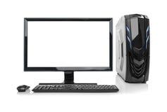 Computer di desktop pc isolato Fotografia Stock