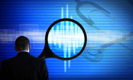 Computer diagnosis science and medicine stock images