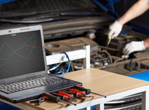 Computer diagnostic of modern car Stock Image