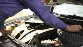 Computer diagnostics vehicle mechanic, video HD stock video