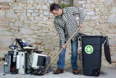 Computer die twee recycleren royalty-vrije stock foto