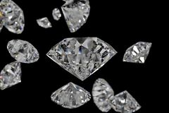 Luxury diamond gem, 3d rendering. Computer digital drawing, diamond background, 3d rendering reflection crystal diamonds gem luxury stone sparkle jewelry vector illustration