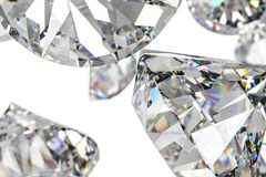 Luxury diamond gem, 3d rendering. Computer digital drawing, diamond background, 3d rendering white reflection crystal diamonds gem luxury stone sparkle jewelry royalty free illustration