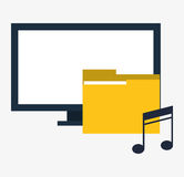 Computer digital folder music. Vector illustration eps 10 Stock Photography