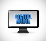 Computer digital media illustration design Royalty Free Stock Photography