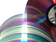 Computer discs data library. Computer optical discs storage data library on white background Stock Photos