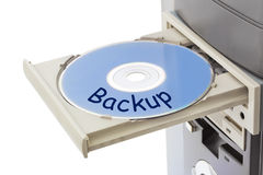 Computer and disk Backup Stock Photo