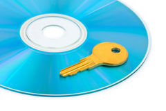 Computer disk and key Royalty Free Stock Photo