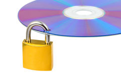 Computer disk and lock Royalty Free Stock Photo