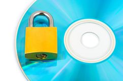Computer disk and lock Stock Photography