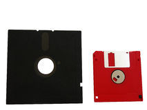 Computer diskettes. Two computer diskettes for storage of any information Stock Photo