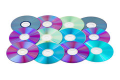 Computer disks background Royalty Free Stock Photo