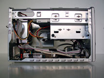 Computer dismantled. Internal view of a computer dismantled Royalty Free Stock Photos