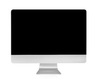 Computer display with blank black screen isolated on white background Royalty Free Stock Photography