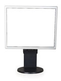 Computer display with blank white screen Stock Image