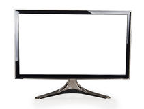 Computer display with blank white screen Stock Photos