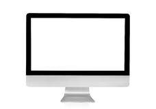 Computer display with blank white screen isolated on white backg Stock Image