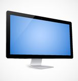Computer display with blue screen Royalty Free Stock Images