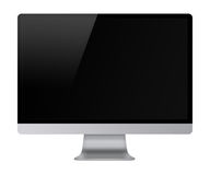 Computer display with empty black screen. Stock Images