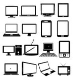 Computer display icons Stock Photos