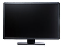 Computer Display 24 inch Black royalty free stock photography