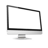 Computer display isolated on white Stock Photos