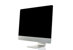 Computer display isolated Royalty Free Stock Photo