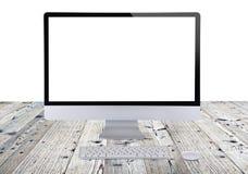 Computer display. Stock Photos
