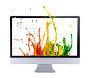 Computer display. Stock Photography