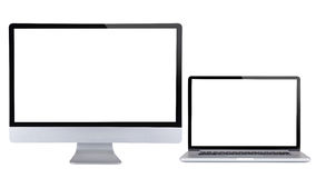 Computer display with laptop. Stock Images