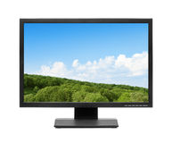 Computer display or lcd tv. On white background Royalty Free Stock Photos