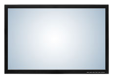 Computer display or lcd tv. On white background Royalty Free Stock Photography