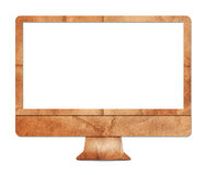 Computer display paper craft Stock Photo