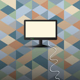 Computer display on retro background Stock Photo