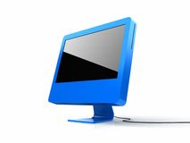 Computer display. On white background Stock Photography