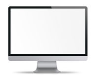 Computer display with white blank screen. Stock Photo