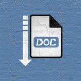 Computer doc file icon Stock Photo