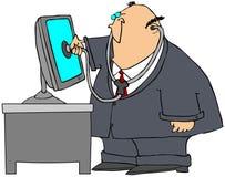 Computer-Doktor Stockfotografie