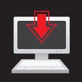 Computer Download Arrow Stock Photos