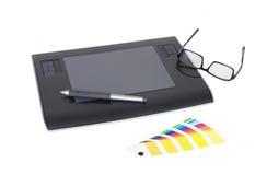 Computer Drawing Tablet 3. A Computer Drawing Tablet Input Device Stock Photo