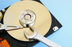 Computer drive repair Stock Images
