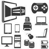 Computer e apparecchio elettronico Immagine Stock