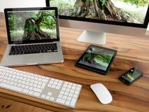 Computer e compressa Fotografia Stock