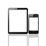 Computer e Smart Phone della compressa Fotografia Stock