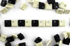 Computer e tecnologie informatiche nelle industrie e nei campi di attivit? umana - concetto trasporto su un fondo bianco da fotografia stock