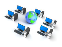 Computer and earth Royalty Free Stock Photo