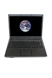 Computer and Earth Stock Photography