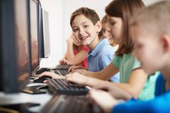 Computer education Royalty Free Stock Photography