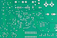 Computer electronic board circuit Royalty Free Stock Image